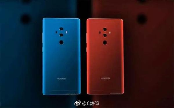 Väitetyssä Huawei Mate 10 Prossa nähdään takana kaksoiskamera.