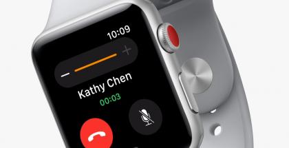 Ensimmäisenä MicroLED-näyttöä odotetaan tulevaisuuden Apple Watchiin. Kuvassa nykyinen Apple Watch Series 3.