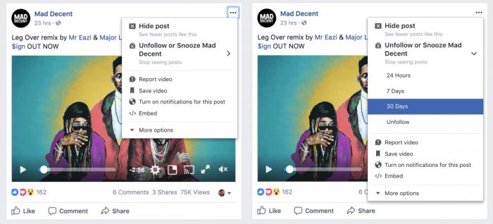 Facebook on aloittanut testaamaan, joka mahdollistaa torkuttamisen eli julkaisujen piilottamisen joltakin taholta valituksi aikaa.