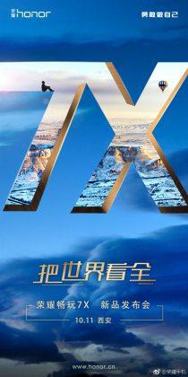 Honor 7X -julkistus on Kiinassa vuorossa 11. lokakuuta.
