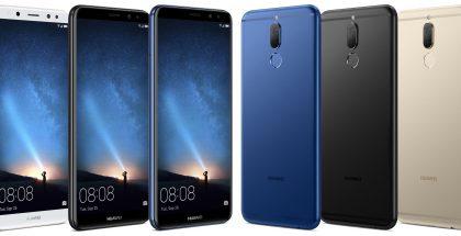 Huawei Mate 10 Liten eri värivaihtoehdot.