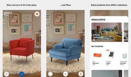 IKEA Place mahdollistaa huonekalujen sovittamisen omaan kotiin.