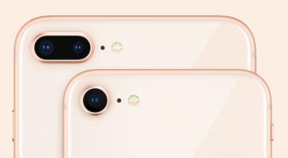 iPhone 8:ssa on edelleen yksi takakamera, iPhone 8 Plussassa kaksi.