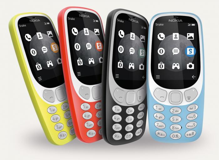 Nokia 3310 3G:n uusia värejä ovat harmaa ja vaaleansininen.