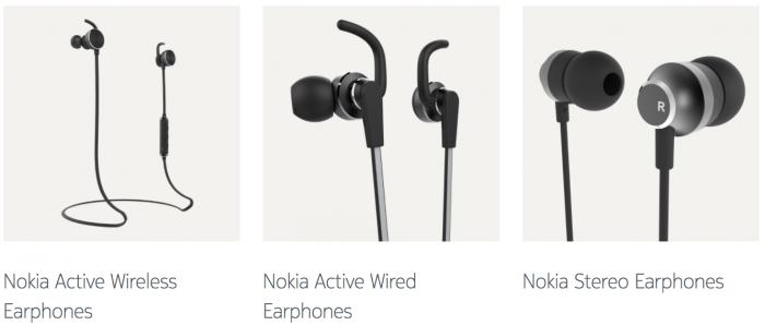 Nokia-kuulokkeita.