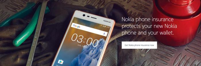 Nokia-puhelimille tarjotaan nyt vakuutuksia.