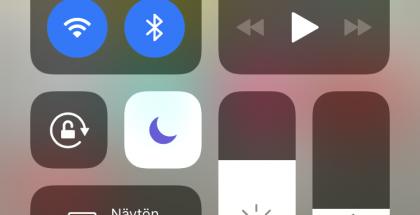 Ohjauskeskus uudistui iOS 11:ssä.