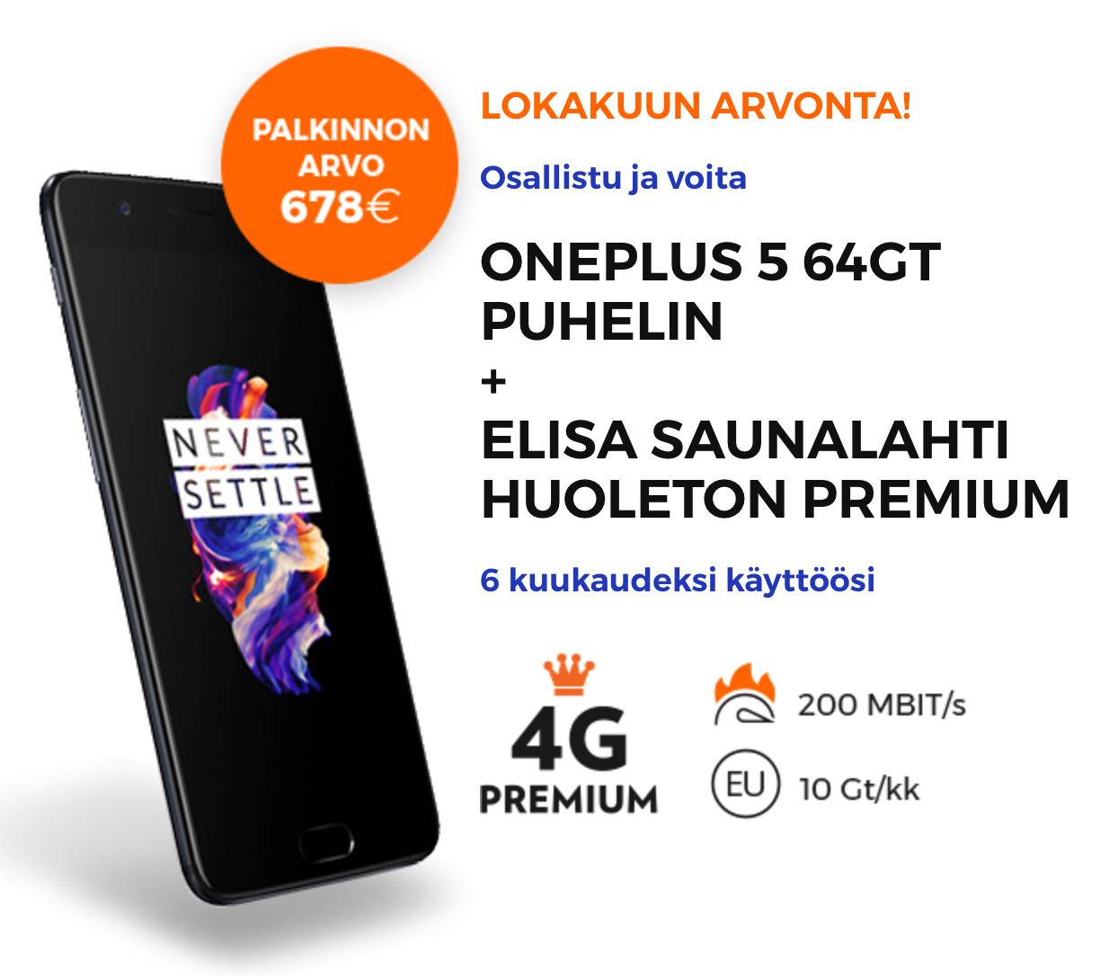 Voita OnePlus 5 ja Elisan liittymä – osallistu arvontaan tästä | Mobiili.fi