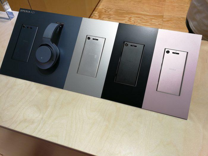 Xperia XZ1 -värivalikoima.