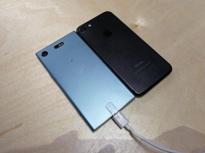 Xperia XZ1 Compact on karkeasti Applen iPhone 7:n kanssa samaa kokoluokkaa.