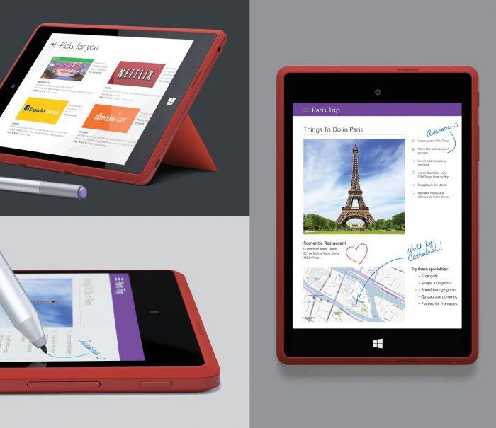 Surface Mini Evan Blassin vuotamissa kuvissa.