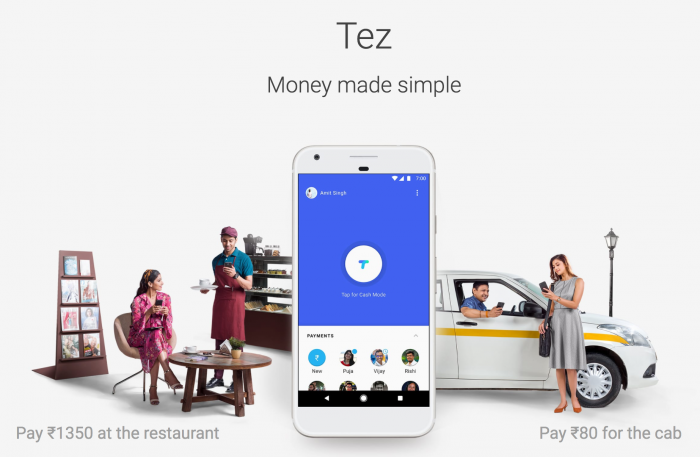 Tez-maksupalvelu on suunniteltu Intian vaatimuksiin.