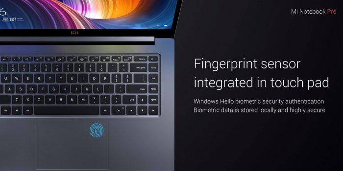 Sormenjälkitunnistin löytyy Mi Notebook Pron taso-ohjaimesta.