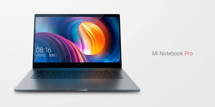 Xiaomi Mi Notebook Prossa on 15,6 tuuman näyttö.