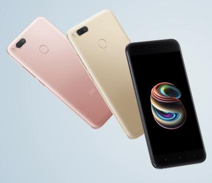 Xiaomi Mi A1:n värivaihtoehdot.