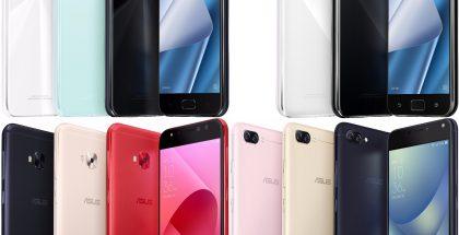 ZenFone 4, ZenFone 4 Pro, ZenFone 4 Selfie Pro ja ZenFone 4 Max.