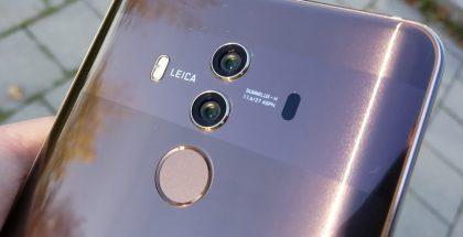 Mate 10 Pron kameroissa aukon koko on kasvanut f/1,6-arvoon.