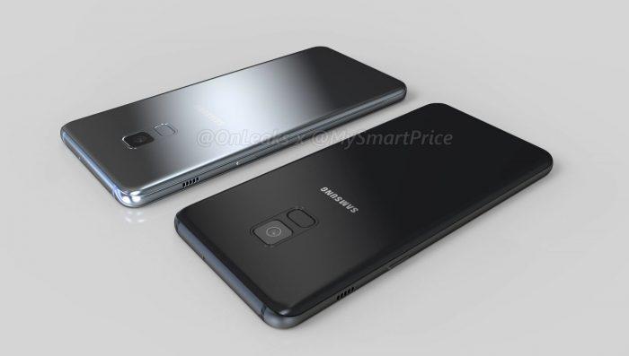 Samasung Galaxy A5 (2018) ja Galaxy A7 (2018). OnLeaksin aiemmin julkaisema kuva.