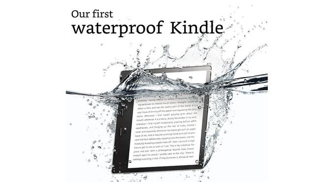 Uusi Kindle Oasis on ensimmäinen vedenkestävä Kindle-laite.