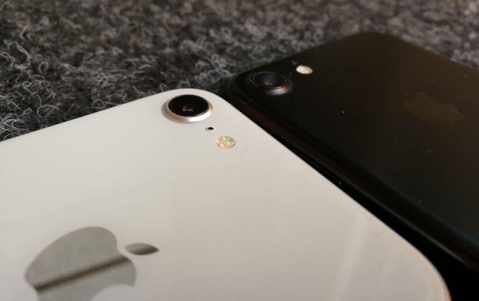 Kamerakohouma on iPhone 8 -puhelimissa iPhone 7 -puhelimia matalampi.