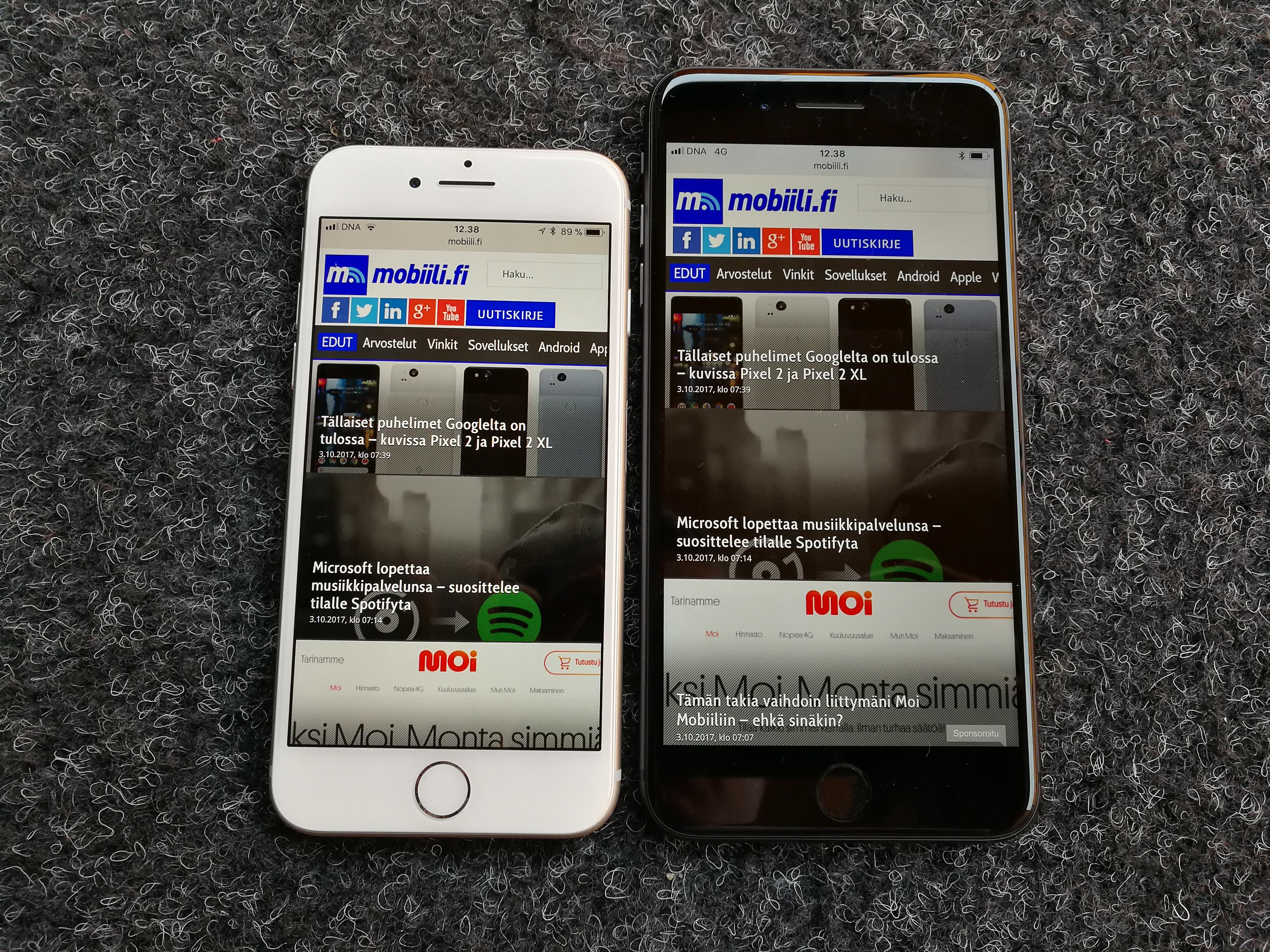 Arvostelussa iPhone 8 ja iPhone 8 Plus – yhden iPhone