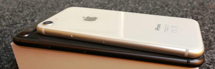 Kyljiltäänkin iPhone 8 -puhelimet ovat edeltäjiensä kaltaisia.
