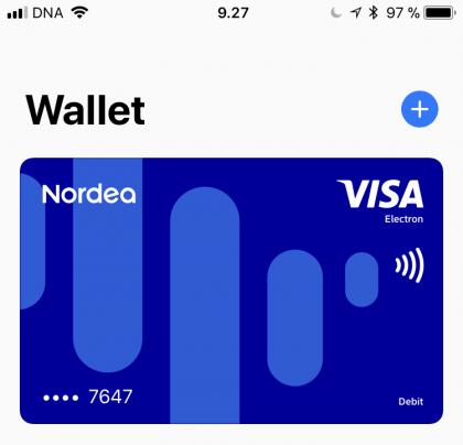 Apple Pay -kortit löytyvät Applen Wallet-sovelluksesta.
