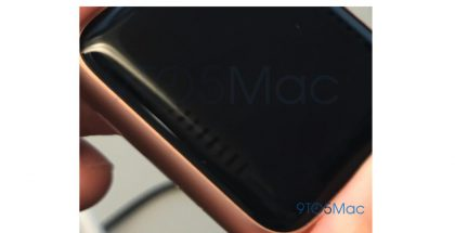 Apple Watch Series 3:n näytön reunan ongelma 9to5Macin kuvassa.