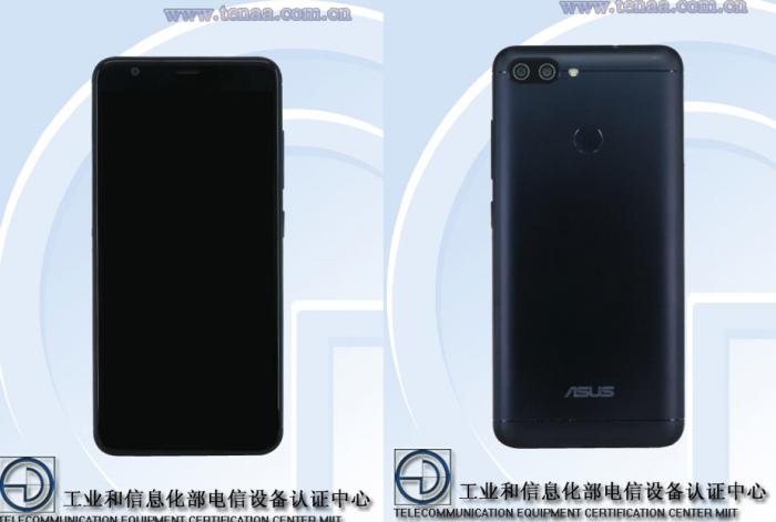 Asus X018DC -puhelinmalli kiinalaisen TENAAn kuvissa.