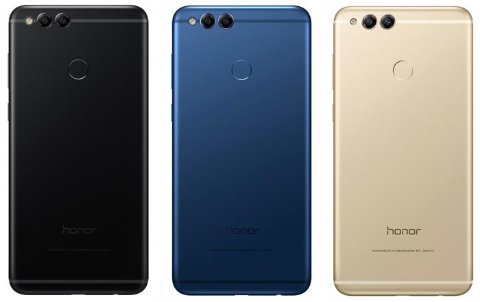 Honor 7X:n värivaihtoehdot.