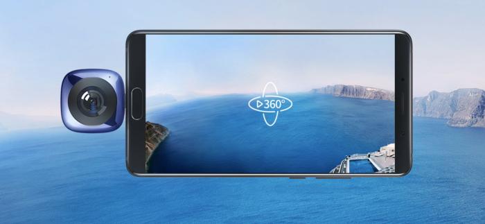 EnVizion 360 -kamera liitetään älypuhelimen USB-C-liitäntään. Ilman älypuhelinta itsenäisesti kamera ei toimi.