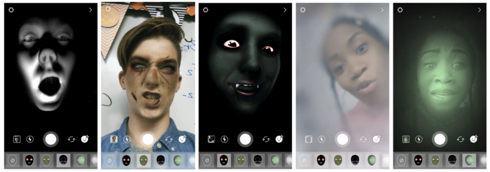 Instagramin Halloween-maskeja.