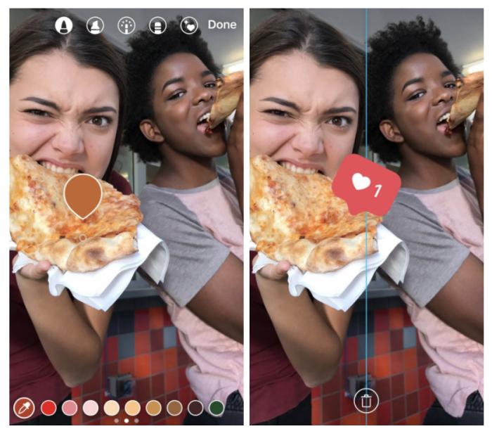 Instagram Stories saa uuden värivalitsimen.
