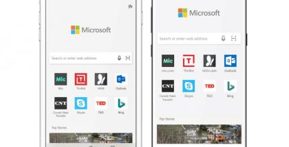 Microsoftin Edge-selain iPhonelle ja Androidille.