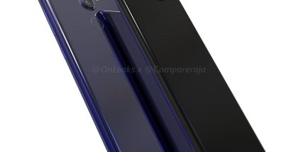 Nokia 9:n design OnLeaksin ja CompareRajan julkaisemassa kuvassa.