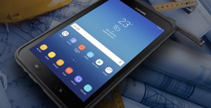 Samsung Galaxy Tab Active 2 on tehty kestämään paremmin kovaakin työkäyttöä.