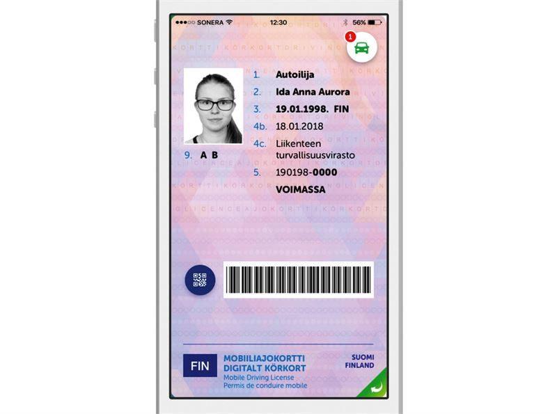 Autoilija-sovellukseen tulee mobiiliajokortti.