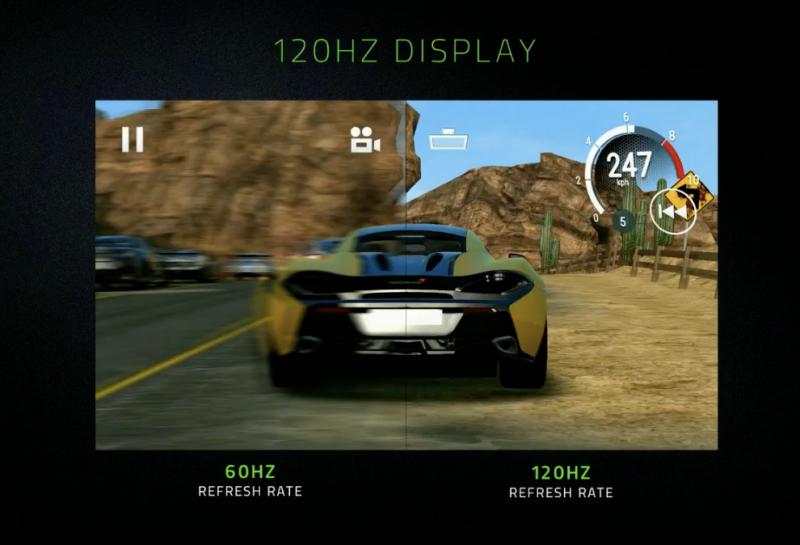 120 hertsin näyttö Razer Phonessa mahdollistaa näytön nopeamman toiminnan.