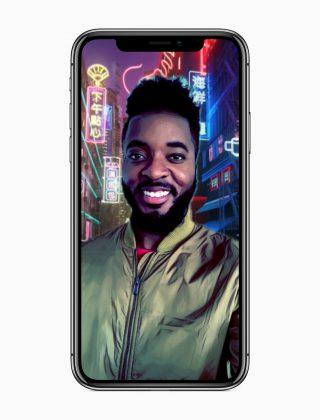 """Esimerkki 360 asteen Selfietilanteesta, jossa oman selfien saa """"teleportattua"""" erilaisten 360 asteen taustojen päälle."""