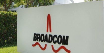 Broadcom logo kyltti.