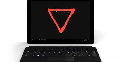 Eve V on Microsoftin Surface Pron kaltainen kannettava tietokone erillisellä näppäimistöllä.