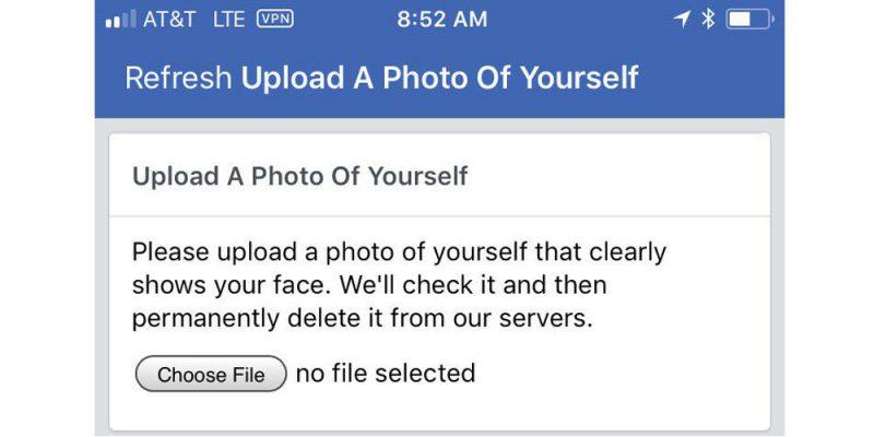 Facebookin kuvatarkistus.