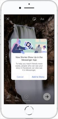 Facebook Stories -tarinat yhdistyvät Messenger-päivän kanssa.