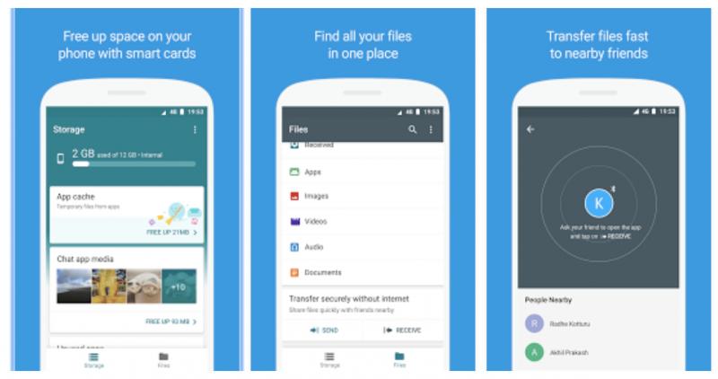 Googlen uusi Files Go -sovellus helpottaa tallennustilan vapauttamista sekä tiedostojen jakamista.