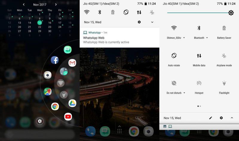 Android Oreo HTC U11:ssä.