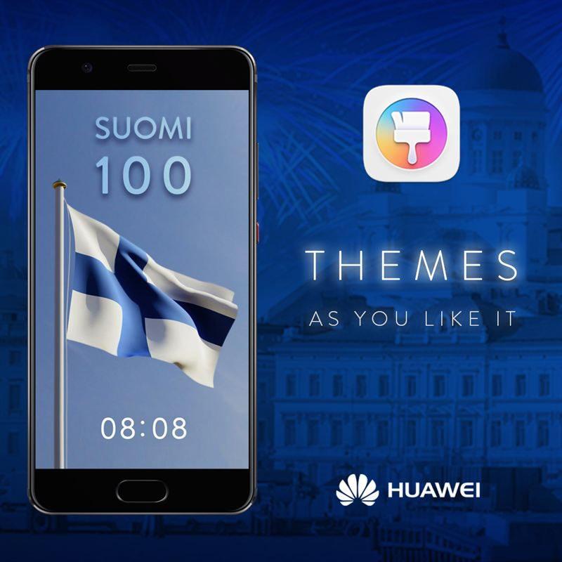 Huawei juhlistaa 100-vuotiasta Suomea.