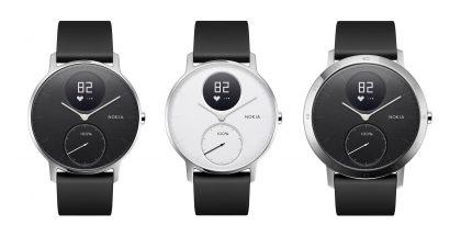 Nokia Steel HR, 36 millimetrin malli mustana ja valkoisena sekä vain mustana saatava 40 millimetrin malli.