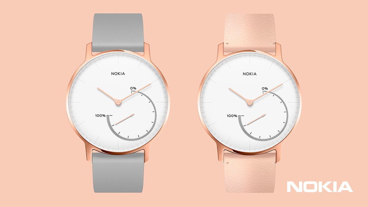 Nokia Steel Rose Gold.