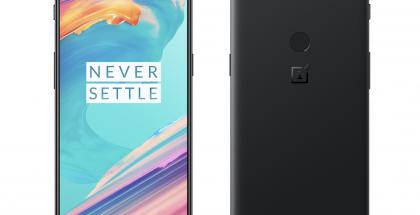 OnePlus 5T edestä ja takaa.
