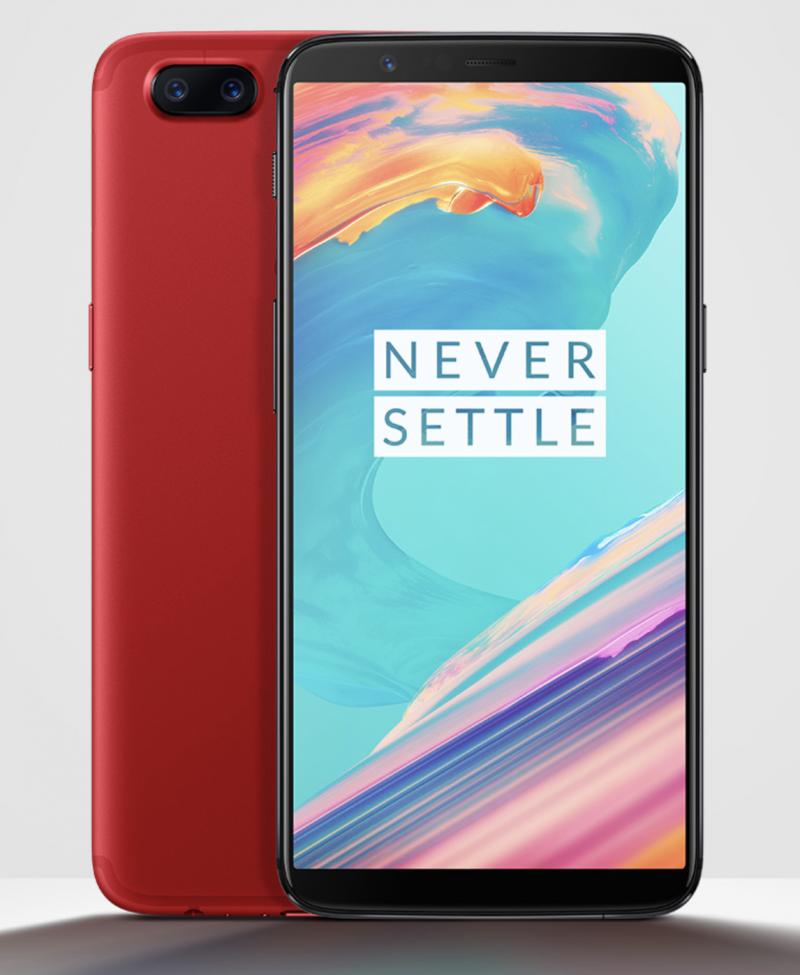 OnePlus 5T punaisena.